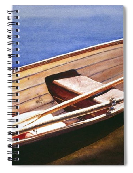 The Lake Boat Spiral Notebook