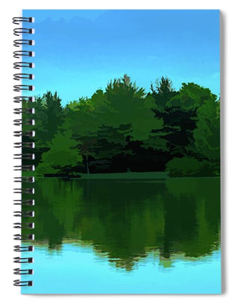 The Lake - Impressionism Spiral Notebook