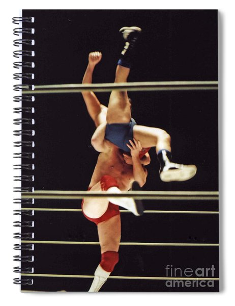 The Landing Is Going To Hurt With Old School Wrestling From The Cow Palace  Spiral Notebook