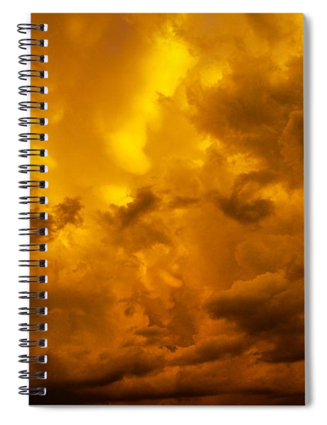 Spiral Notebook featuring the photograph The Last Glow Of The Day 008 by NebraskaSC