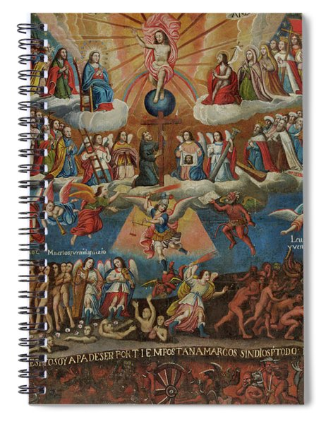 The Last Judgement, Cuzco School, Late 17th Century Spiral Notebook