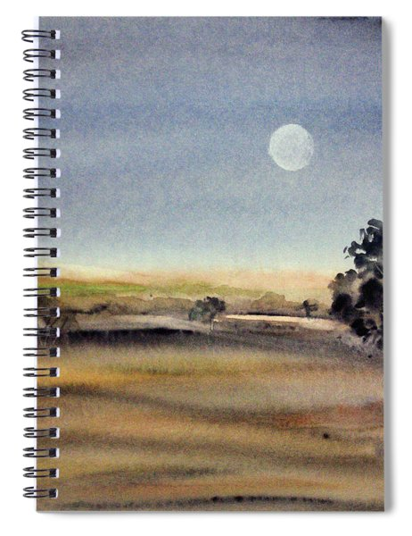 The Last Moonrise Of 2017 Spiral Notebook