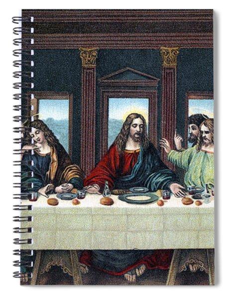 The Last Supper After The Fresco By Leonardo Da Vinci Spiral Notebook