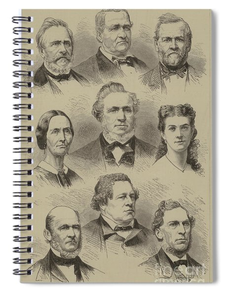 The Late Brigham Young, And A Group Of Mormon Celebrities Spiral Notebook
