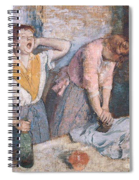 The Laundresses Spiral Notebook by Edgar Degas
