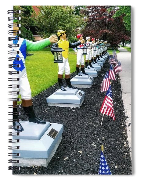 The Lawn Jockeys Of Saratoga Springs Spiral Notebook