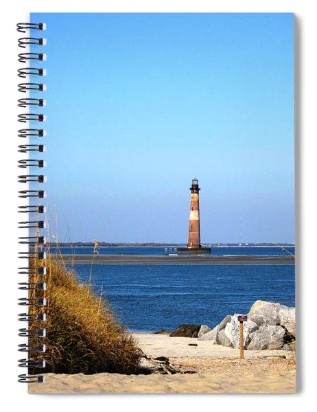 The Lighhouse At Morris Island Charleston Spiral Notebook