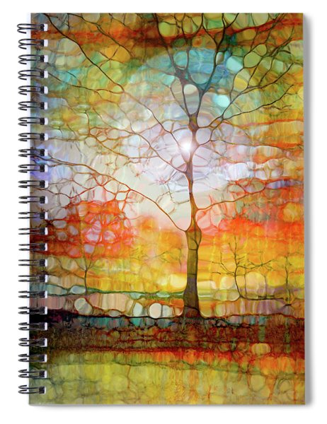 The Light Circle Spiral Notebook