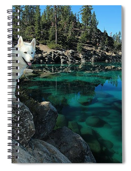 The Light Of Lake Tahoe Spiral Notebook