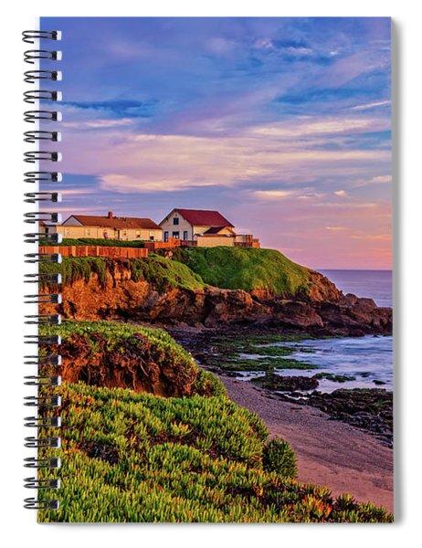 The Light Of Sunset Spiral Notebook