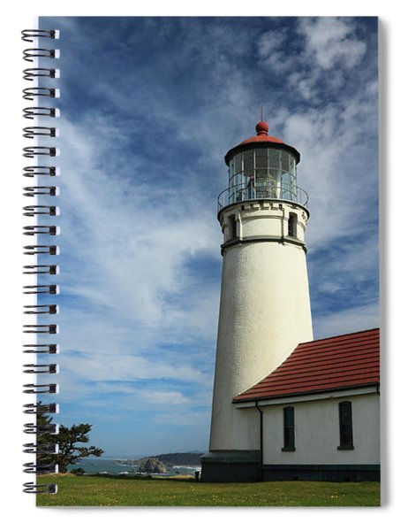 The Lighthouse At Cape Blanco Spiral Notebook