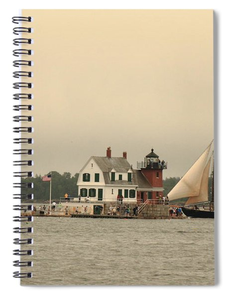 The Lighthouse At Rockland Spiral Notebook