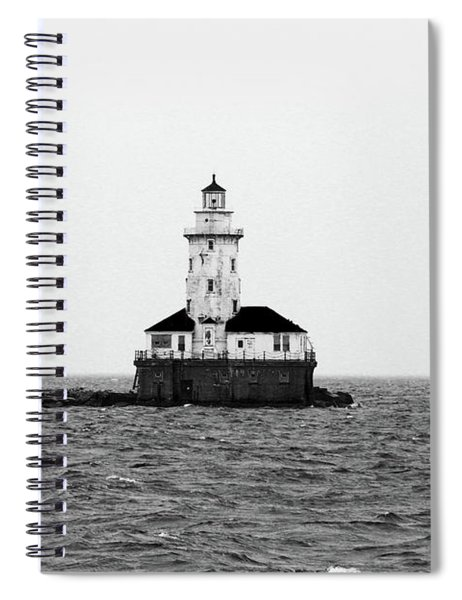 The Lighthouse Black And White Spiral Notebook
