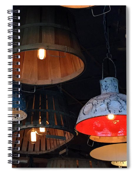 The Lights Above Spiral Notebook