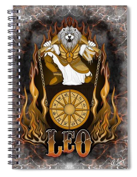 The Lion Leo Spirit Spiral Notebook