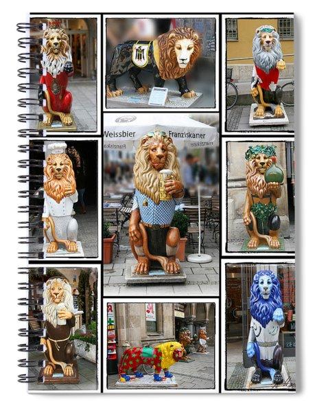 The Lions Of Munich Spiral Notebook