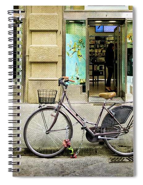 The Lipstick Bicycle Spiral Notebook