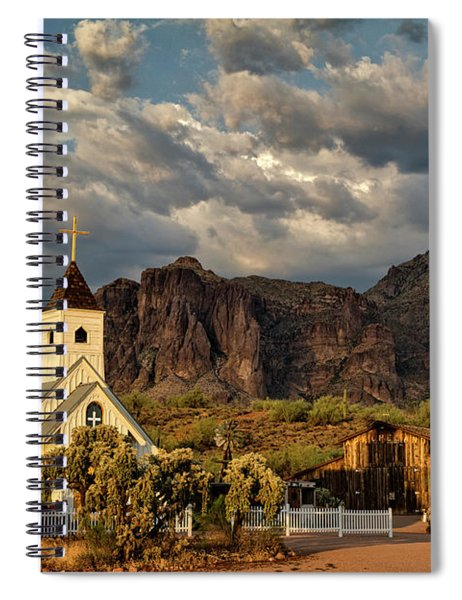 The Little Chapel In The Superstitions  Spiral Notebook