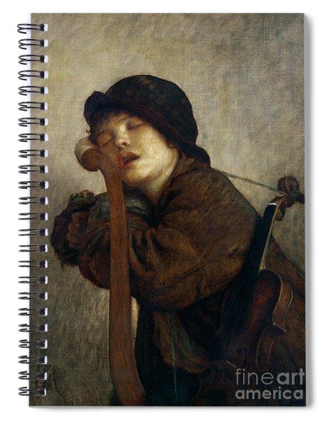 The Little Violinist Sleeping Spiral Notebook