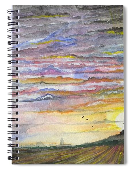 The Living Sky Spiral Notebook