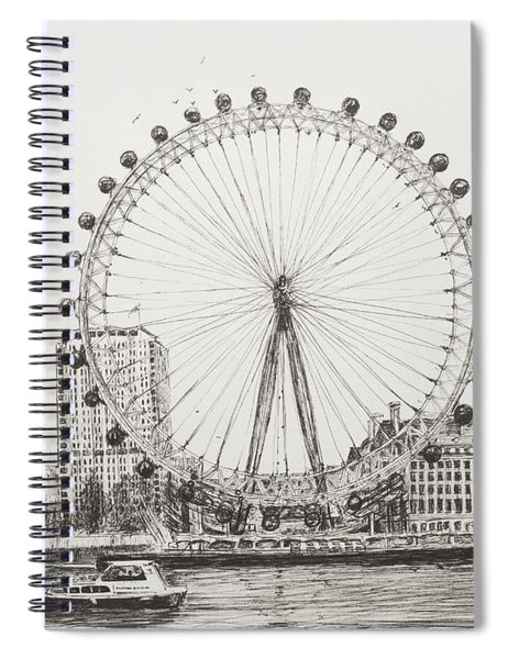 The London Eye Spiral Notebook