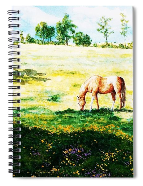The Lone Horse Spiral Notebook