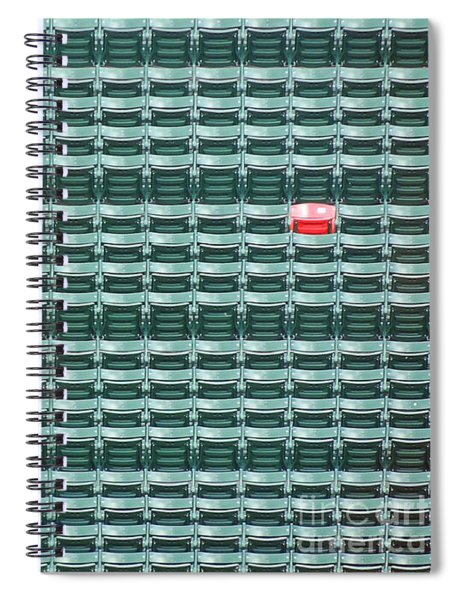 The Lone Red Seat At Fenway Park Spiral Notebook
