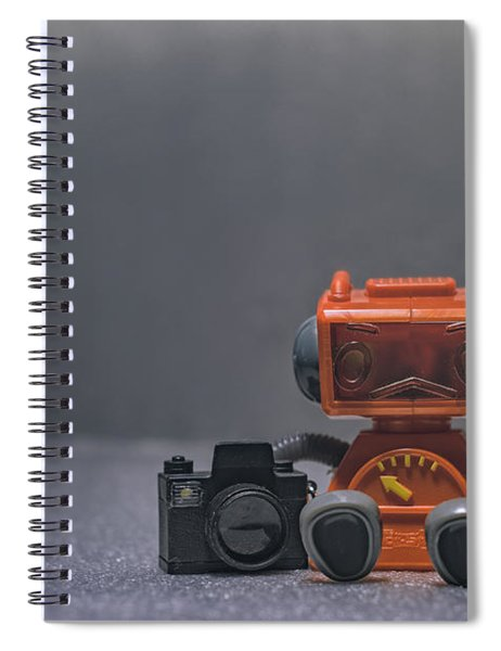 The Lonely Robot Photographer Spiral Notebook
