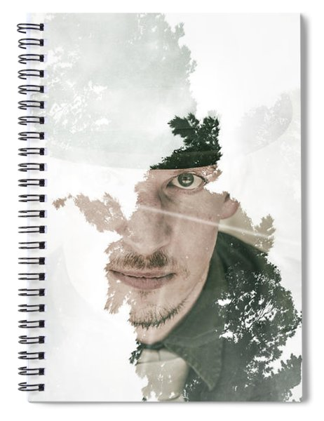 The Looking Glass Forest Man Spiral Notebook