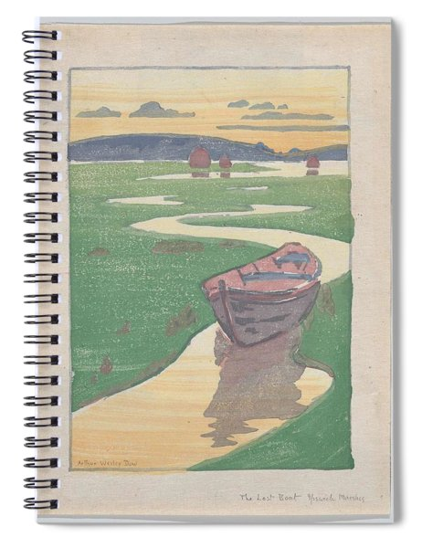 The Lost Boat , Arthur Wesley Dow Spiral Notebook