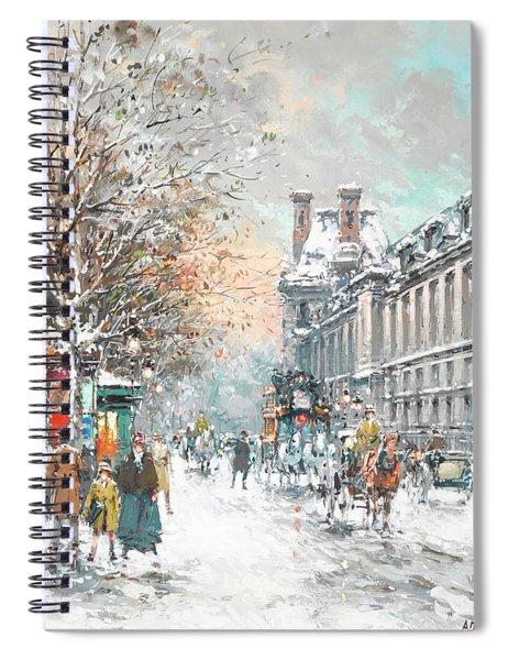 The Louvre-winter Spiral Notebook