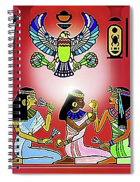 The  Lure Of Egypt Spiral Notebook