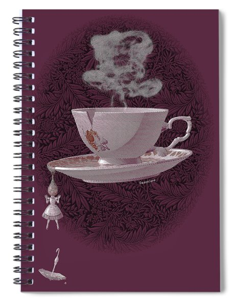 The Mad Teacup - Rose Spiral Notebook