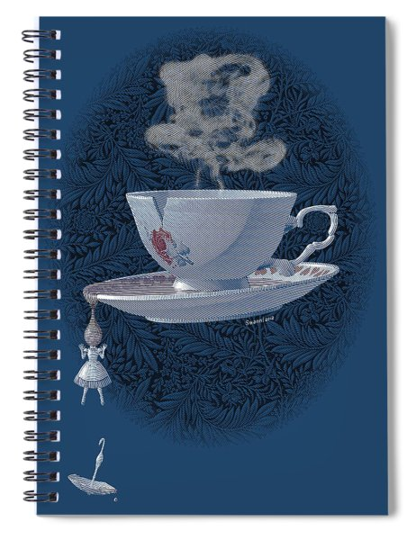 The Mad Teacup - Royal Spiral Notebook