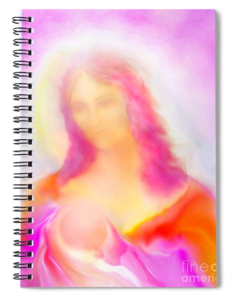 The Madonna Of Compassion Spiral Notebook