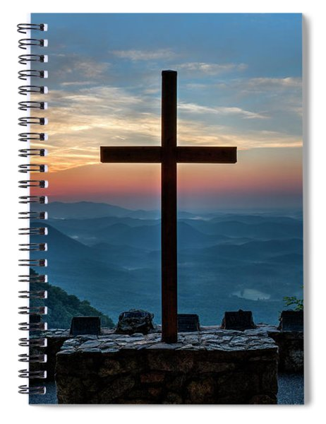 The Magnificent Cross Pretty Place Chapel Greenville Sc Great Smoky Mountains Art Spiral Notebook