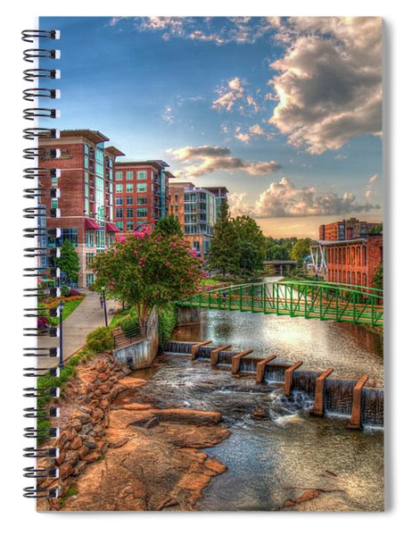 The Main Attraction Reedy River Greenville South Carolina Art Spiral Notebook