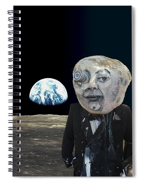 The Man In The Moon Spiral Notebook