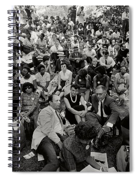 The March On Washington   A Crowd Of Seated Marchers Spiral Notebook
