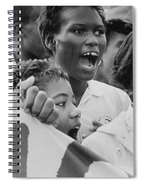 The March On Washington   A Group From Detroit Spiral Notebook