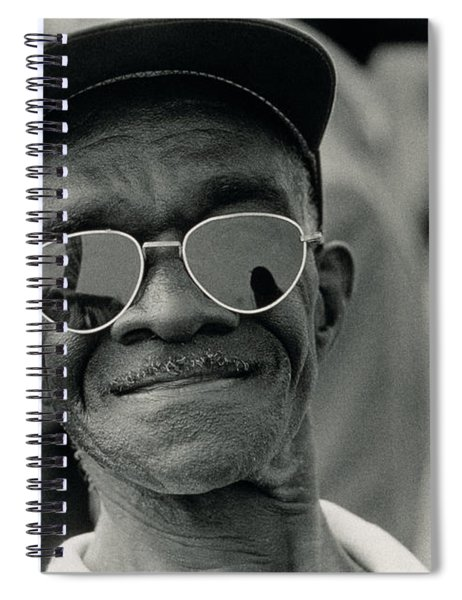 The March On Washington  A Smiling Man At Washington Monument Grounds Spiral Notebook