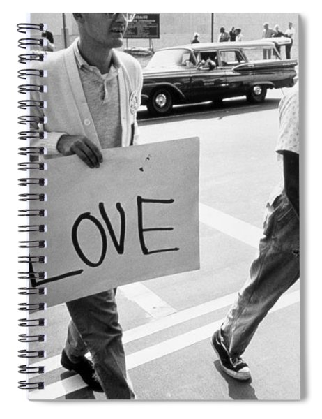 The March On Washington   Love Spiral Notebook
