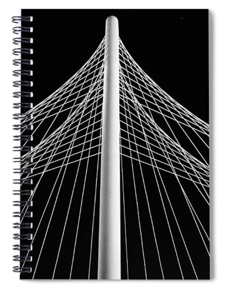 Spiral Notebook featuring the photograph The Margaret Hunt Hill Bridge In Dallas by Robert Bellomy