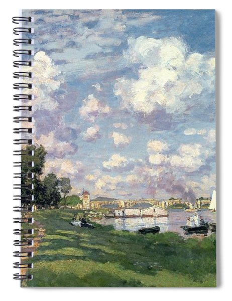 The Marina At Argenteuil Spiral Notebook