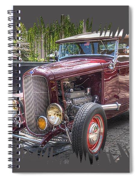 Maroon T Bucket Spiral Notebook