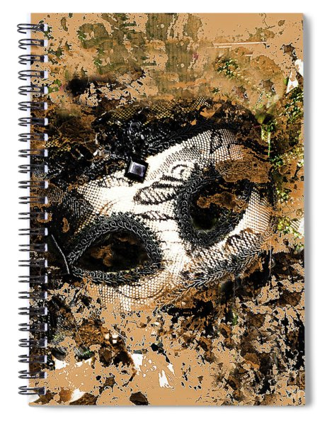The Mask Of Fiction Spiral Notebook