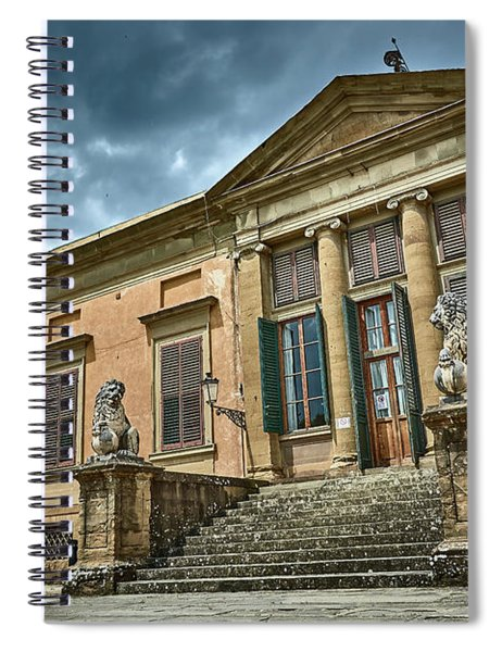 The Meridian Palace In The Pitti Palace Spiral Notebook