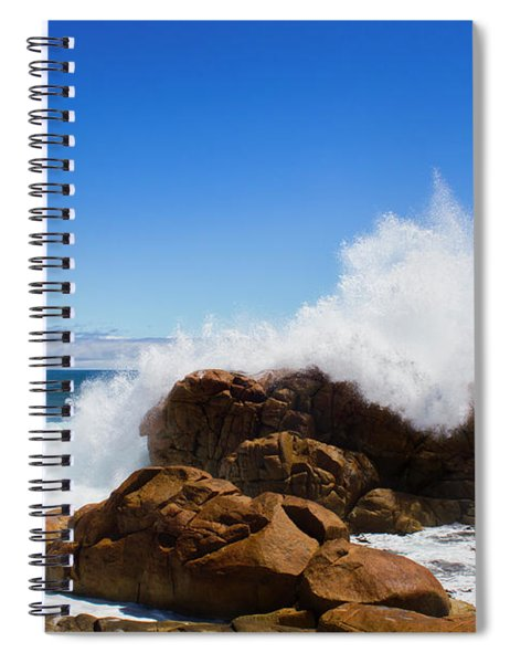 The Might Of The Ocean Spiral Notebook