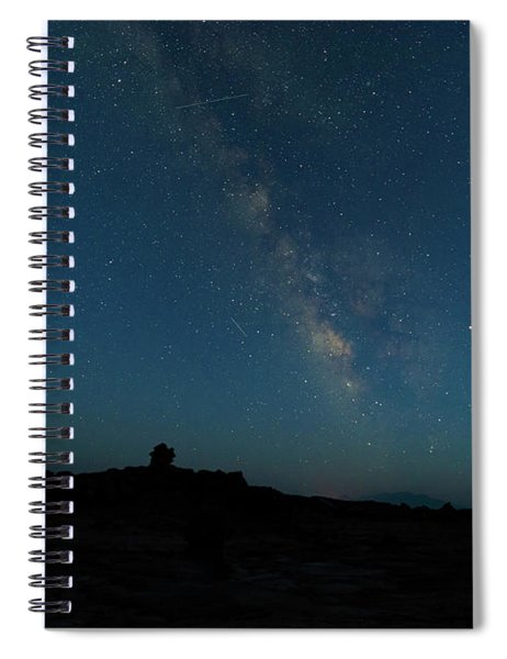 Spiral Notebook featuring the photograph The Milky Way At Goblin Valley by Jim Thompson