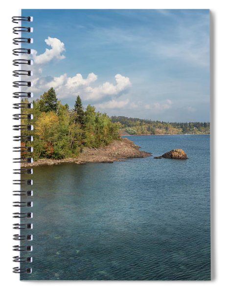 The Minnesota Side Of Lake Superior Spiral Notebook